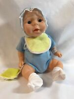 "Newborn Vinyl Anatomically Correct 13"" Boy Doll Made in China w 2 Extra Outfits"