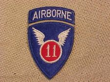 ORIGINAL WWII 11th AIRBORNE PARATROOPER PATCH WITH ATTACHED TAB
