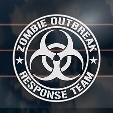 Zombie Outbreak Response Team Car Sticker 110mm army font version