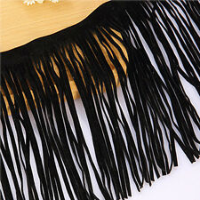 Fringe  Imitation Faux Suede Leather Trim Lace Dress DIY Craft Clothing Textiles