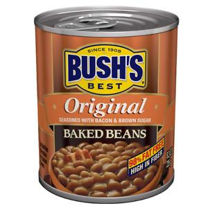 3x Bush's Best Baked Beans Original Seasoned with Bacon & Brown Sugar 8.3 OZ