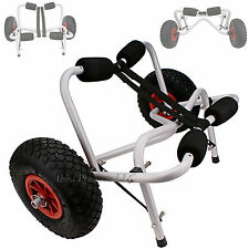 Big Wheel Kayak Boat Raft Canoe Dolly Carrying Transport Cart Trailer Trolly