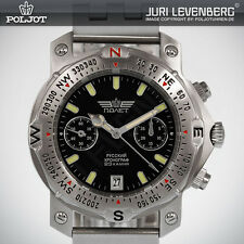 Poljot 3133 aviator fliegerchronograph Russian Mechanical piloto's chronograph