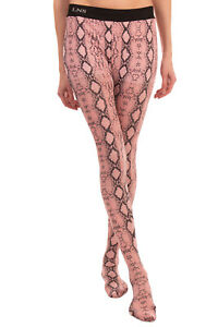 LANEUS Tights Size S Snakeskin Pattern Elasticated Waist Made in Italy