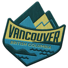 Vancouver British Columbia Iron On Travel Patch - Mountains and Ocean