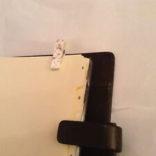 Filofax Page Marker White Flower Stocking Filler Gift