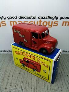 MATCHBOX LESNEY No.47a Trojan Brooke Bond Tea Van 1956 original vintage diecast
