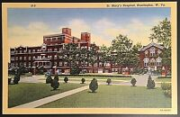 St Mary's Hospital Huntington West Virginia Vintage Postcard Linen E155