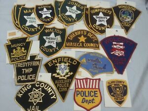 Assorted Police Patch Lot Of 20 Patches >> Multiple States & County