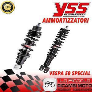 Set Front Shock Absorber+Rear YSS Black Vespa ET3 Spring 125