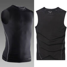 Mens Compression Vest Tank Tops Base Layer Skins Sleeveless Gym Fitness Training