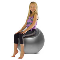 Outdoor Living Room Patio Night Club Bar Cocktail Kid Pouf Chair Ball Seat Grey