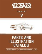 1987 1989 1991 1993 Cadillac Allante Part Numbers Book List Guide Interchange Oe