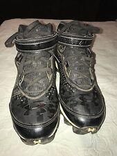 Under Armour Mens Football Lacrosse Cleats Size 9 Black Royal EUC