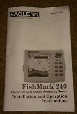 Eagle FishMark 240 Fishfinder installation & instruction manual ORIGINAL fish