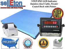 Ntep Legal 60 X 84 Floor Scale Industrial Digital Amp Printer 5000 X 1 Lb