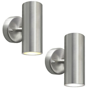Modern 8W LED Stainless Steel Double Wall Light Outdoor Up and Down Garden Light