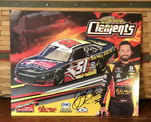 2021 JEREMY CLEMENTS #51 FIRE WALL SIGNS  NASCAR POSTCARD  Autographed