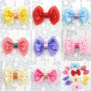 Wholesale Mini Satin Ribbon Bowknot Small Sewing Appliques for Craft Supplies
