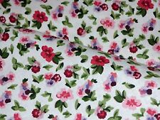 Laura Ashley LA1031 POLYANTHAS CRUSHED STRAWBERRY Pink Floral Drapery Fabric BTY