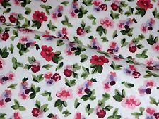 Laura Ashley LA1031 POLYANTHAS CRUSHED STRAWBERRY Pink Floral Drapery Fabric