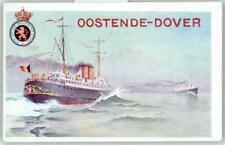 53275126 - Dampfer Oostende-Dover Ganzsache Kuenstlerkarte