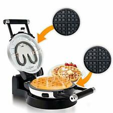 Nonstick 360 Degree Rotating Belgian Waffle Maker With Cool Touch Handles