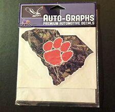 Auto-Graphs Clemson Tigers Premium Vinyl Automotive Decal - Collegiate Decal NEW