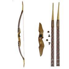 Archery Traditional Handmade Takedown Recurve Bow Wood Men Practice Longbow