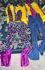 Set of boy and girl Hippie Costumes Halloween dress up one size fits most groovy