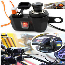 New Weatherproof Motorcycle USB Cell phone Cigarette Lighter Chargers Universal