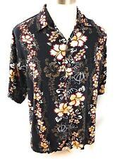 Mango Moon Mens Shirt Hawaiian Short Sleeve Handmade Size 2XL