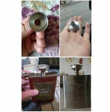 Stainless Steel Flask Funnel Easy Fill No Mess! Hopper Whiskey Alcohol Vodka Rum
