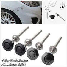 4 x Quick Release Latches Fastener Push Button Car Hood Pin Bonnet Lock Clip Kit