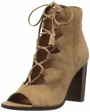 NEW $328 FRYE Boots Gabby Ghillie Lace Up Bootie Cashew Suede Leather sz 9