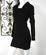 Tally Weijl Long Sleeve Cowl Neck Sweater Dress Size XS Extra Small Solid Black