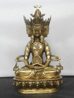 Tibet Buddhist Brass statues VAIROCANA Herr der Mitte buddha statue