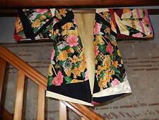 Kimono SILK Patchwork Authentique Soie de Léonard Paris NEUVE doublé Soie P.Unic