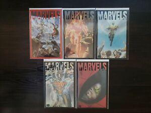Alex Ross andKurt Busiek's MARVELS Complete Comic Lot #0-4 Transparent Covers