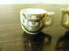 Miniature  Keighley By  Worth  Crested  Souvenir Two  Cups  Loving Cup &  Normal