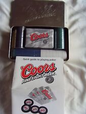Coors Fine Light Beer Poker Set (Rare)