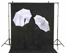 Photo Studio Lighting Kit Backdrop Support 10x20 Muslin Background B/W