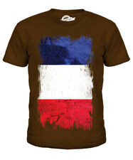 FRANCE GRUNGE FLAG KIDS T-SHIRT TEE TOP FRENCH SHIRT FOOTBALL JERSEY GIFT