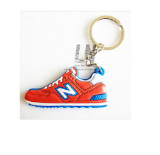 Jordon Basketball Sneaker Shoe Keychain Keyring Gift NEW Red & Blue