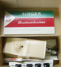 Vintage Singer Buttonholer Sewing Machine Attachment No. 489500 with Templates