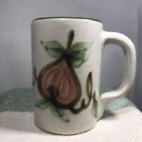 Vintage John B. Taylor Pear Harvest Stoneware Mug Cup Ivory Green Louisville