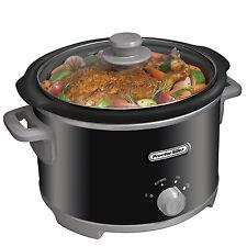 Slow Cooker Crock Pot 4 Quart Black Portable Cooking Electric Crockpot Manual