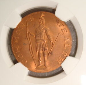 (c. 1945) 1788 Dated Massachusetts Colonial Cent, Evans Restrike NGC MS66RD