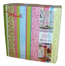 50 Mank 'Zara' Linen Feel Paper Napkins 40 x 40cm