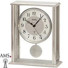AMS 5190 Radio-piloté Horloge de table à pendule boîtier en métal Montre Funky